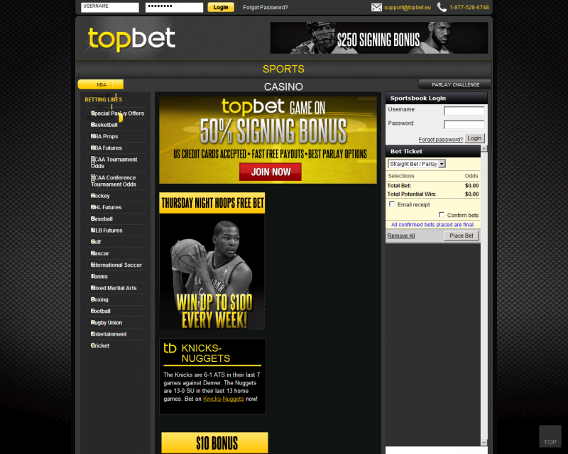 Topbet american usa online sportsbook review bonus for Online sites in usa